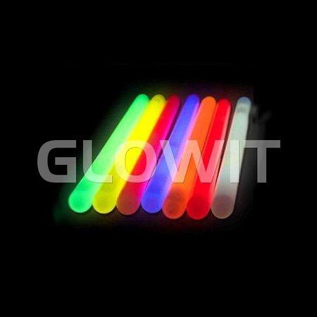 Glowit 10 Glowsticks - 250mm x 15mm - Blauw