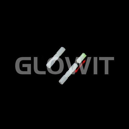 Glowit 100 Luminous glow bracelets - 200mm x 5mm - Yellow