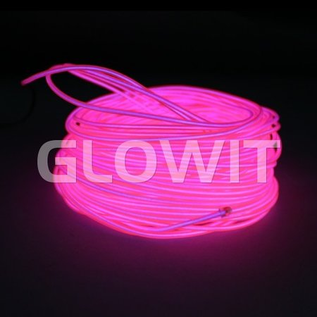 Glowit EL wire - 10m x 3.2mm - Pink
