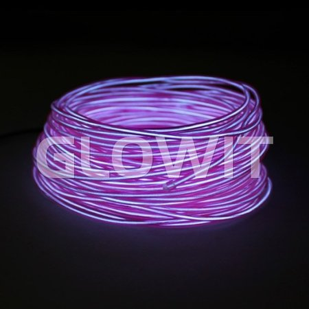 Glowit EL draad - 20m x 3.2mm - Paars