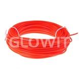 Glowit EL draad - 20m x 3.2mm - Rood