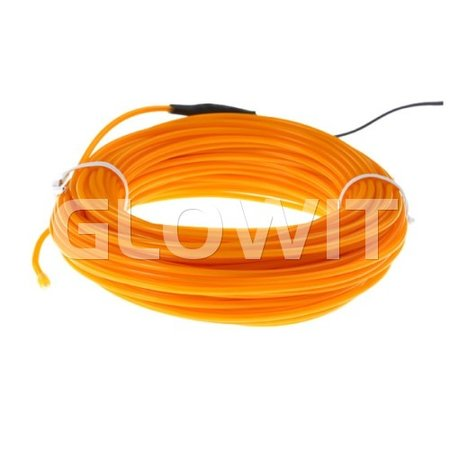 Glowit EL draad - 20m x 3.2mm - Geel