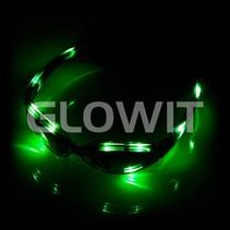lunettes de soleil LED vert