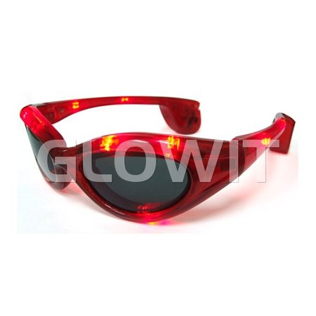 Glowit LED zonnebril - Rood