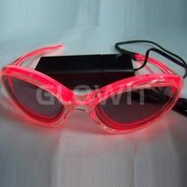 EL Sunglasses (On batteries) Red