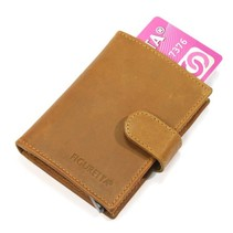 Cardprotector leather - Kaki