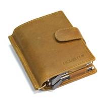 Dubbele hardcase Cardprotector leer - Kaki