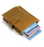 Figuretta Dubbele hardcase Cardprotector leer - Kaki