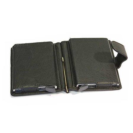 Figuretta Dubbele hardcase Cardprotector leer - Zwart