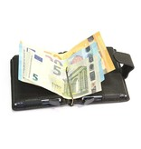 Figuretta Double RFID Protective Case & Wallet in leather - Black