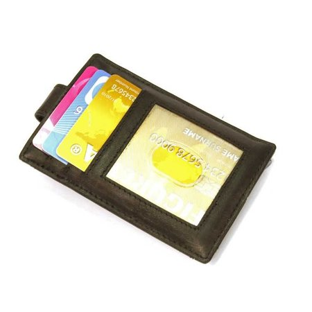 Figuretta Cardprotector sleeve  Leer - Zwart