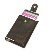 Cardprotector sleeve Leather - Black