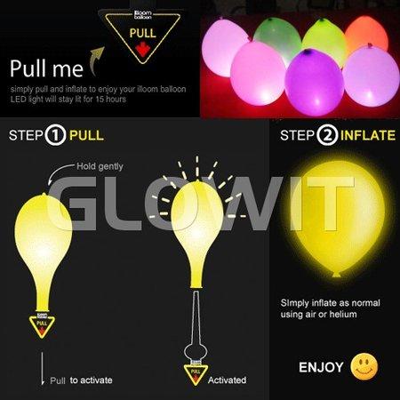 Glowit 10 Led ballon lampjes- Blauw