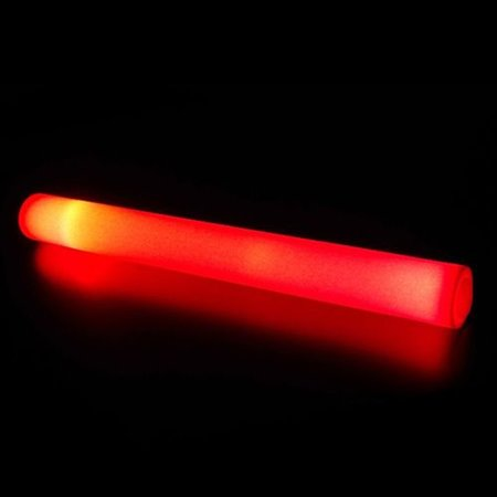 Glowit Schuimrubber LED staaf / foam stick - 400mm x 40mm - Rood