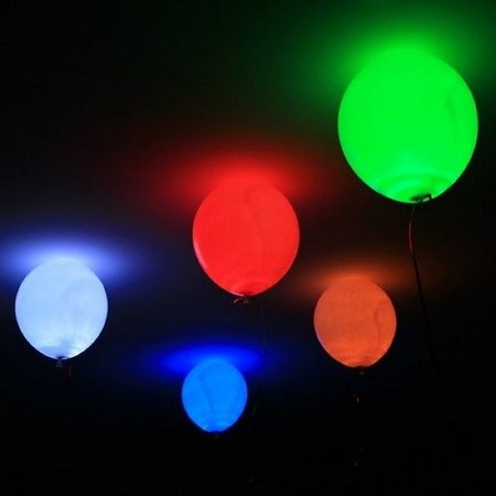 5 Blue LED Balloon Lights