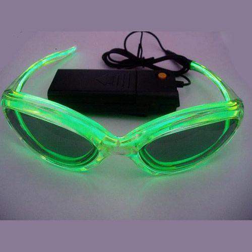 Glowit EL Sunglasses - 3v (2 x AA batteries) - Green