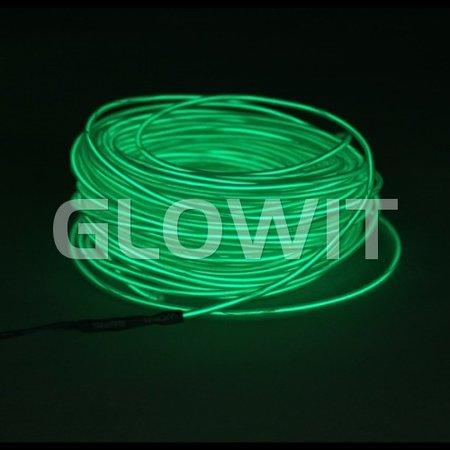 Glowit EL draad - 5m x 3.2mm - Groen