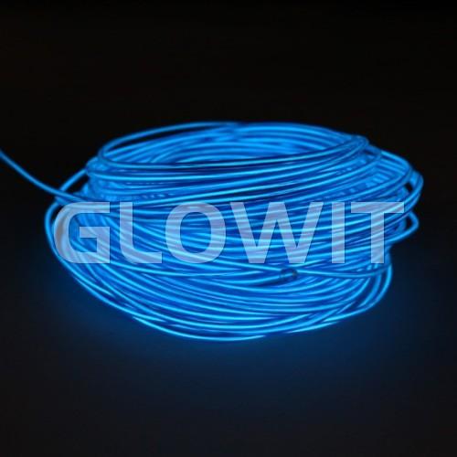 Glowit EL draad - 5m x 3.2mm - Blauw