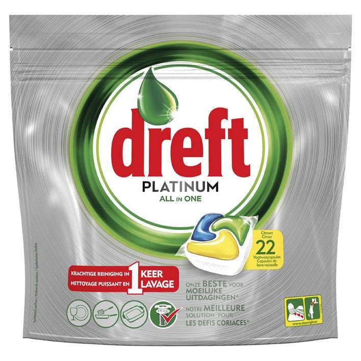 Dreft Platinum Zitrone - 22 Stück - Geschirrtabletten