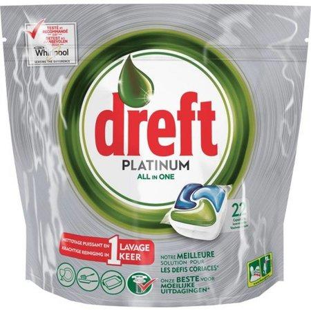 Dreft Platinum Vaatwastabletten All-in-One Orginial 22 stuks