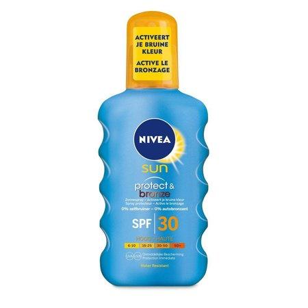 Nivea Sun Protect & Bronze Sonnenbrand Spray SPF30 200 ml