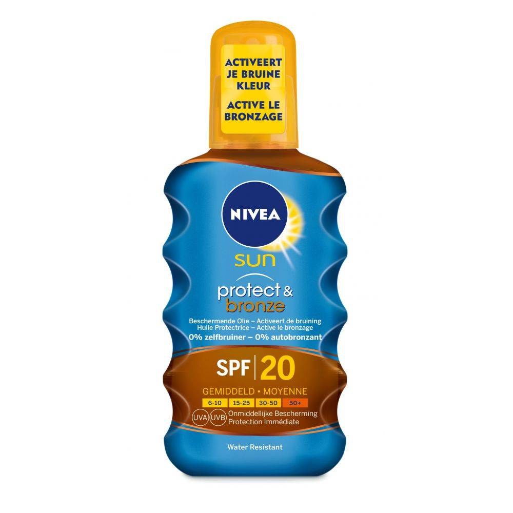 Nivea Sun Protect & Bronze Olie Spray SPF 20 200 ml