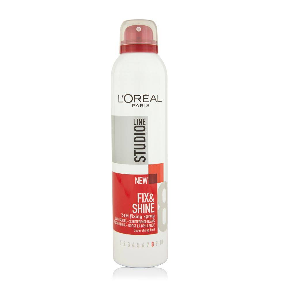 L Oreal Studio Line Fix Shine 24h Super Strong Hairspray 250 Ml