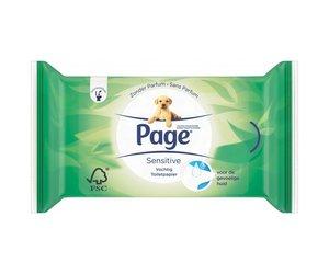 Page Vochtig Toiletpapier.Page Page Vochtig Toiletpapier Aloe Vera 42 Stuks