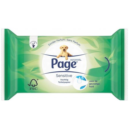 Page Moist Toilet paper Aloe Vera 42 pieces