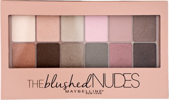 Maybelline The Blushed Nudes Eyeshadow Palette - 12 pink nude shades