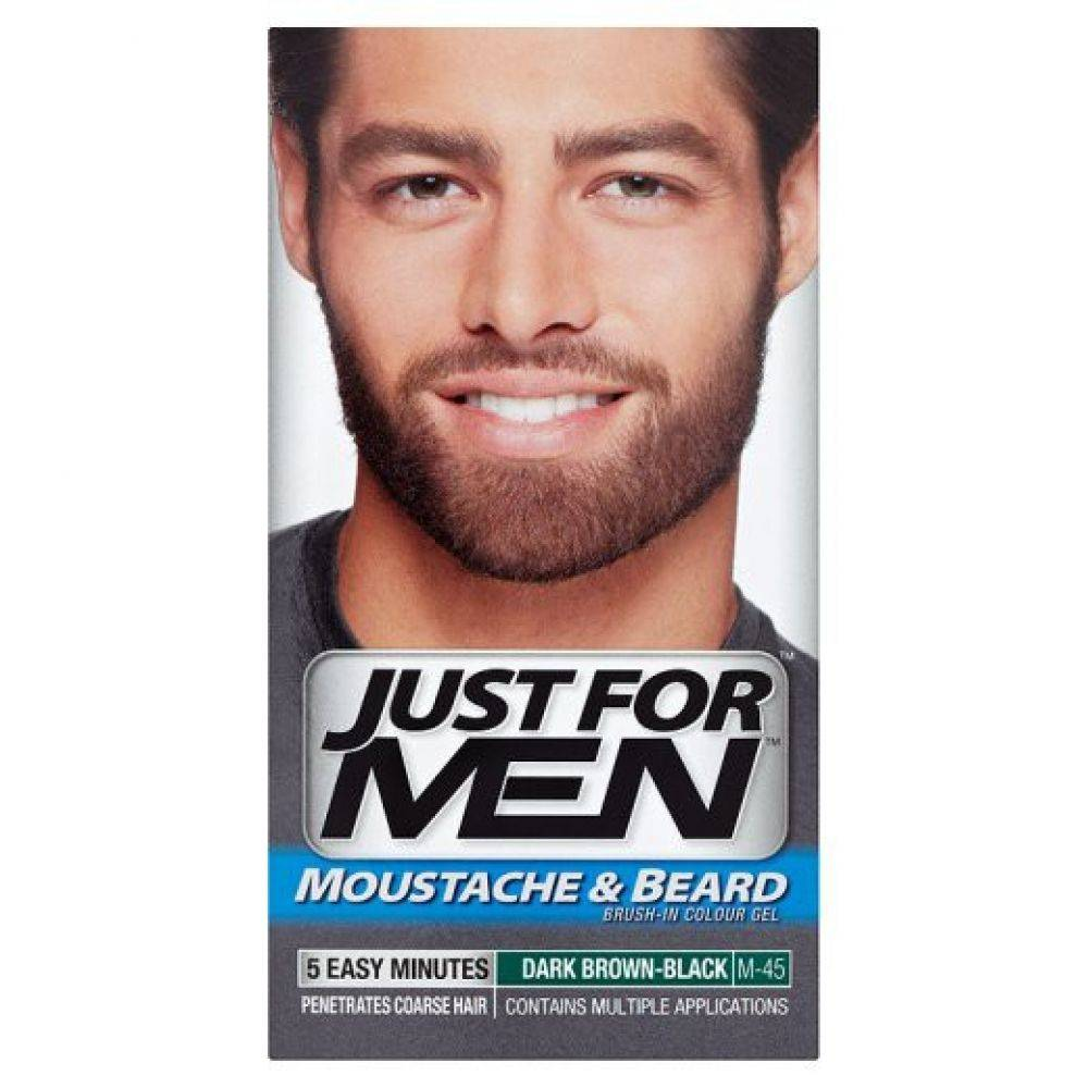 Just for Men Mustache and Beard Dark Brown - Onlinevoordeelshop