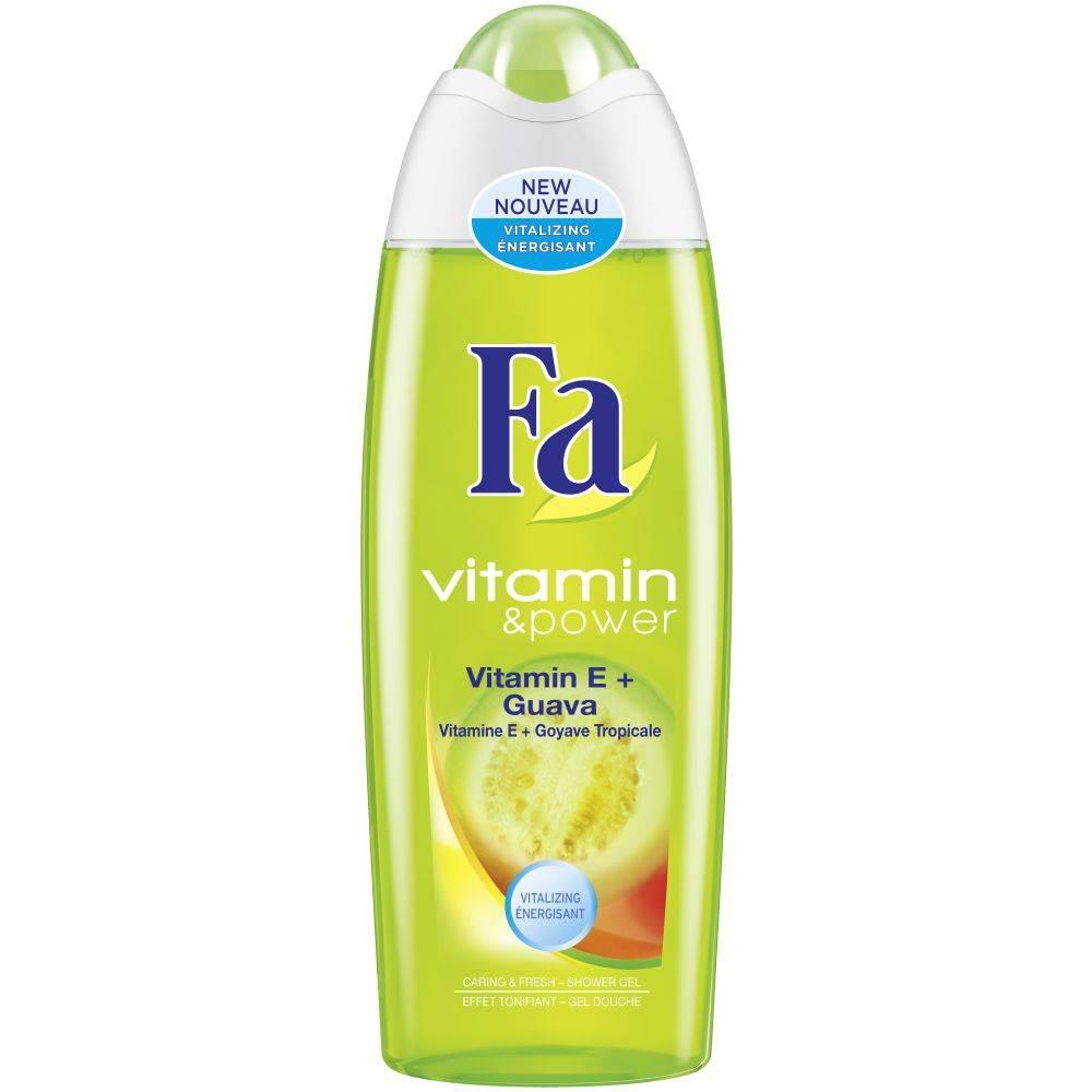 Gel douche Fa Vitamin et Power Vitamin E Goyave