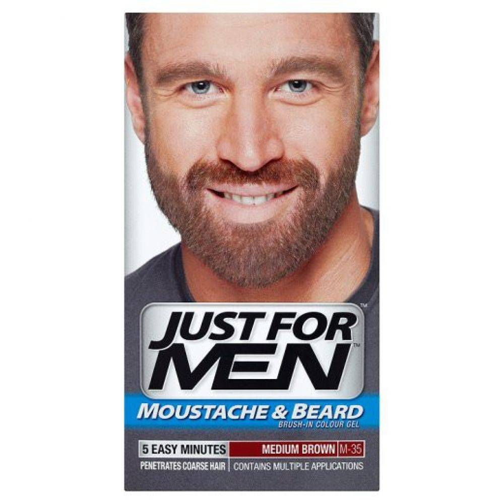 Just for Men Mustache and Beard Middle Brown - Onlinevoordeelshop