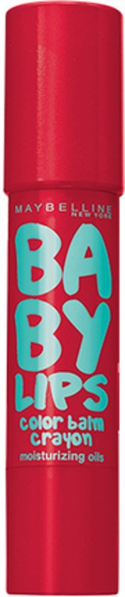Maybelline - Babylips Color Balm Crayon - 5 Candy Red - Lippenbalsem