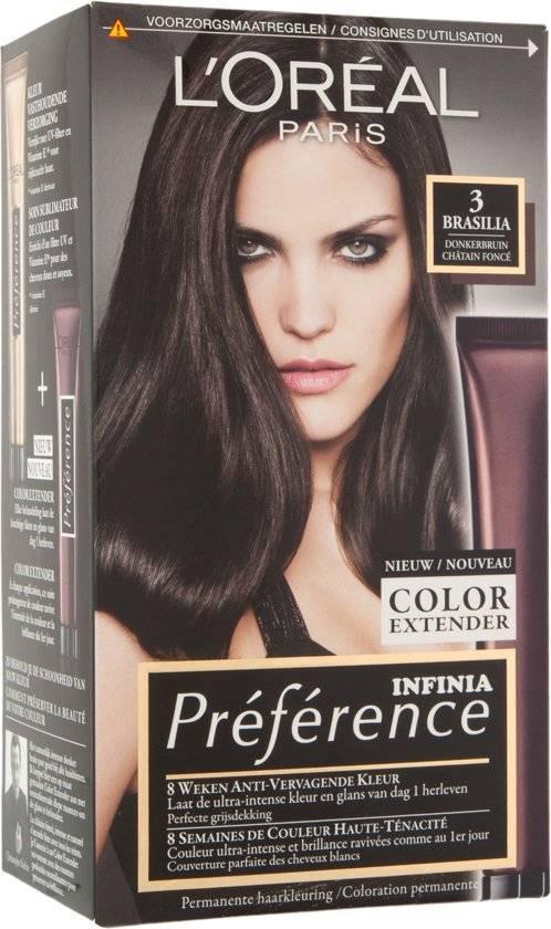 L\'Oréal Paris Préférence Hair Dye - 3 Dark Brown - Color Extender