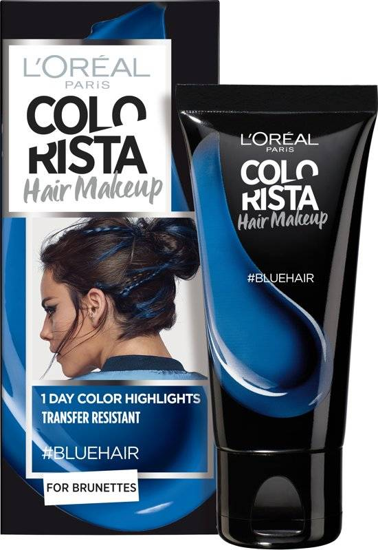 L\'Oréal paris L\'Oréal Paris Colorista Hair Makeup - Blue - 1 Day Hair  Coloring