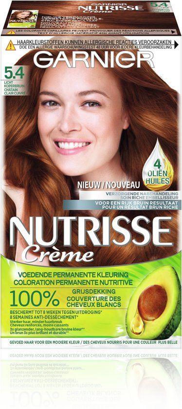 Garnier Garnier Nutrisse Cream Hair Dye - 5.4 Light Copper Brown