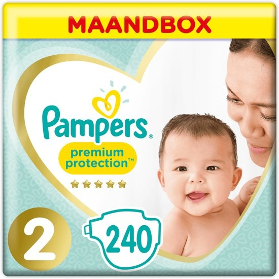 Pampers Premium Protection - Size 2 (Mini) 4-8 kg - Monthly box 240 pieces - Diapers