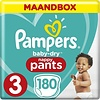 Pampers Baby-Dry Pants Nappy Pants - Size 3 (6-11kg) - Monthly Box 180 Pieces