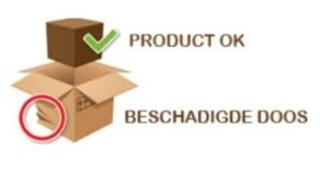 Emballage endommagé / Le produit est bon