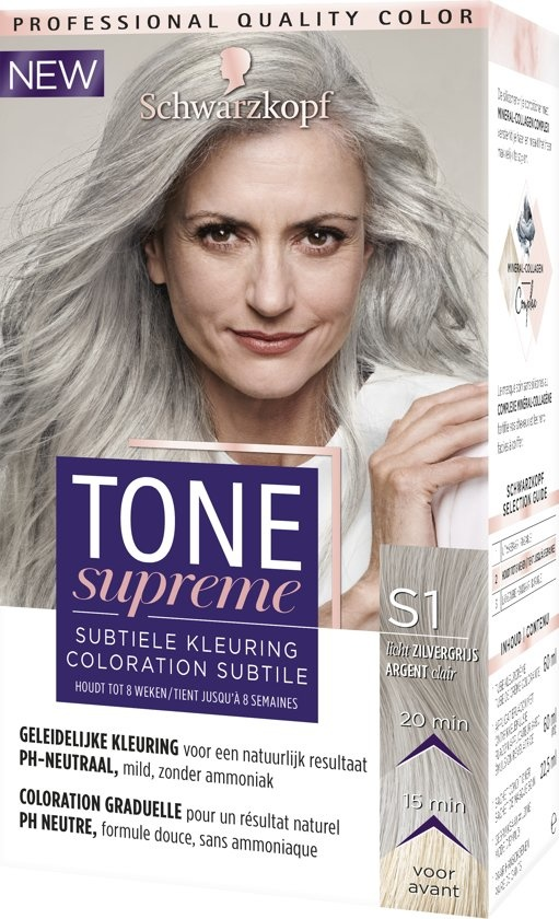 Tone Supreme S1 Light Silver Grey 60 ml Teinture pour les cheveux