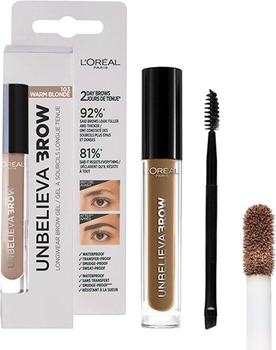 Unbelieva Brow Eyebrow Gel - 103 Warmblond - Blond - Wasserfest - 3,4 ml