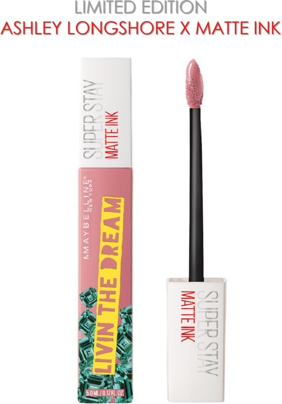 Superstay Langlebiger Lippenstift - Matte Ink x Ashley Longshore - 10 Träumer - Pink - Limited Edition