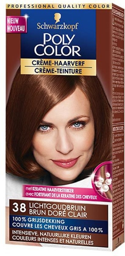 Teinture pour cheveux couleur crème poly