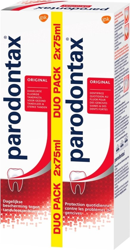 Zahnpasta Fluorid 2 X 75 ml - Verpackung beschädigt -