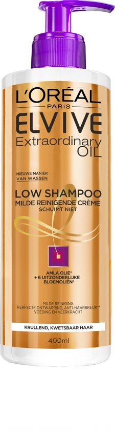 Elvive Extraordinary Oil Krulverzorging - 400ml - Low Shampoo