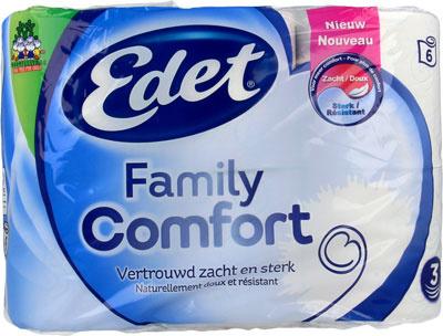 Toilettenpapier Family Comfort 6 Rollen 3 Lagen