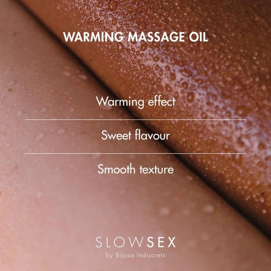 Huile de massage chauffante Slow Sex - 50 ml