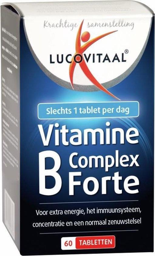 Lucovitaal Vitamin B Complex Forte Nahrungsergänzungsmittel - 60 Tabletten