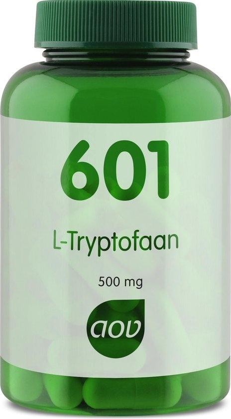 AOV 601 L-Tryptophan 500 mg Aminosäuren Nahrungsergänzungsmittel - 60 Vega Caps